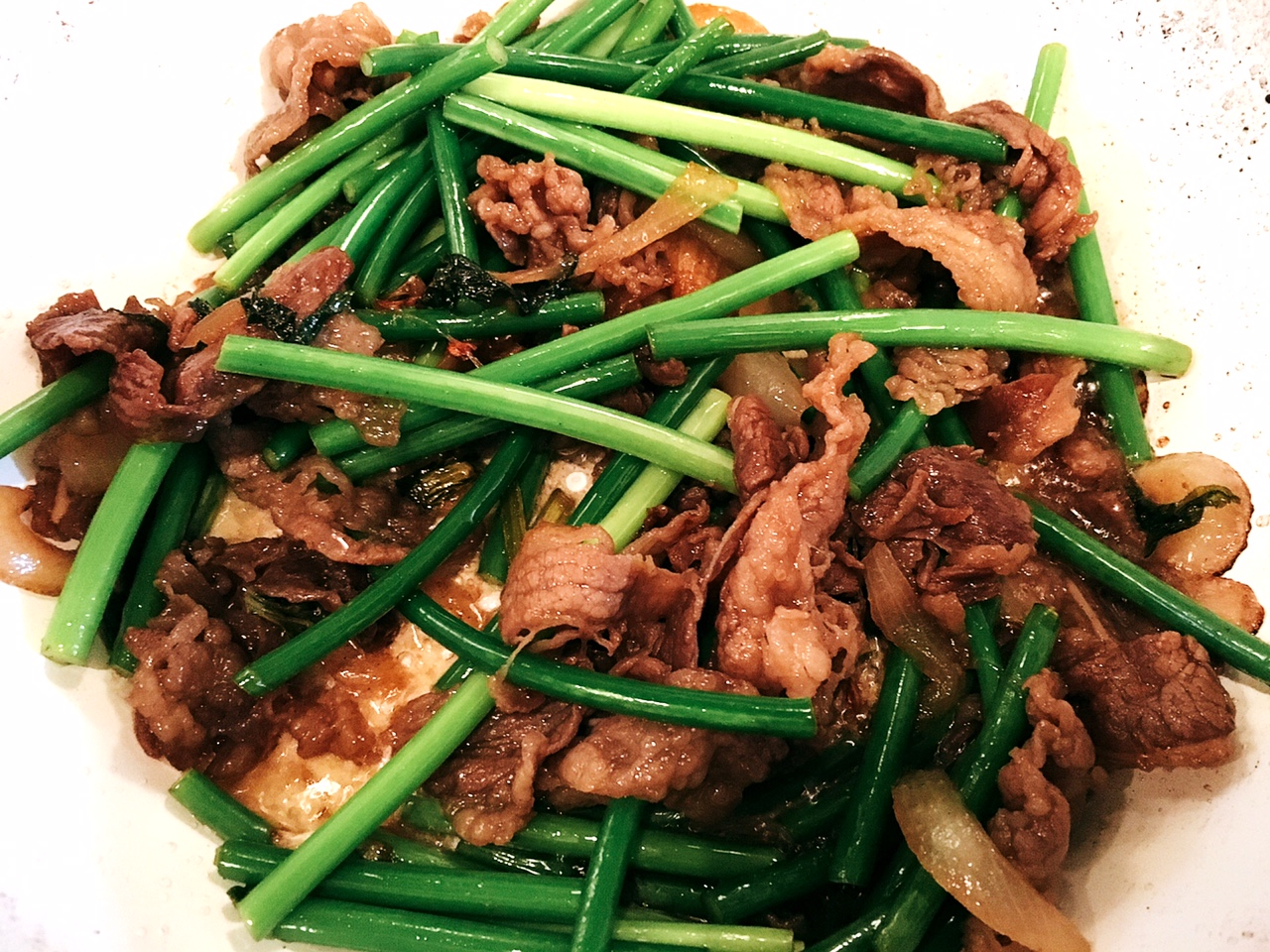 Beef and Garlic Scapes Stir-Fry