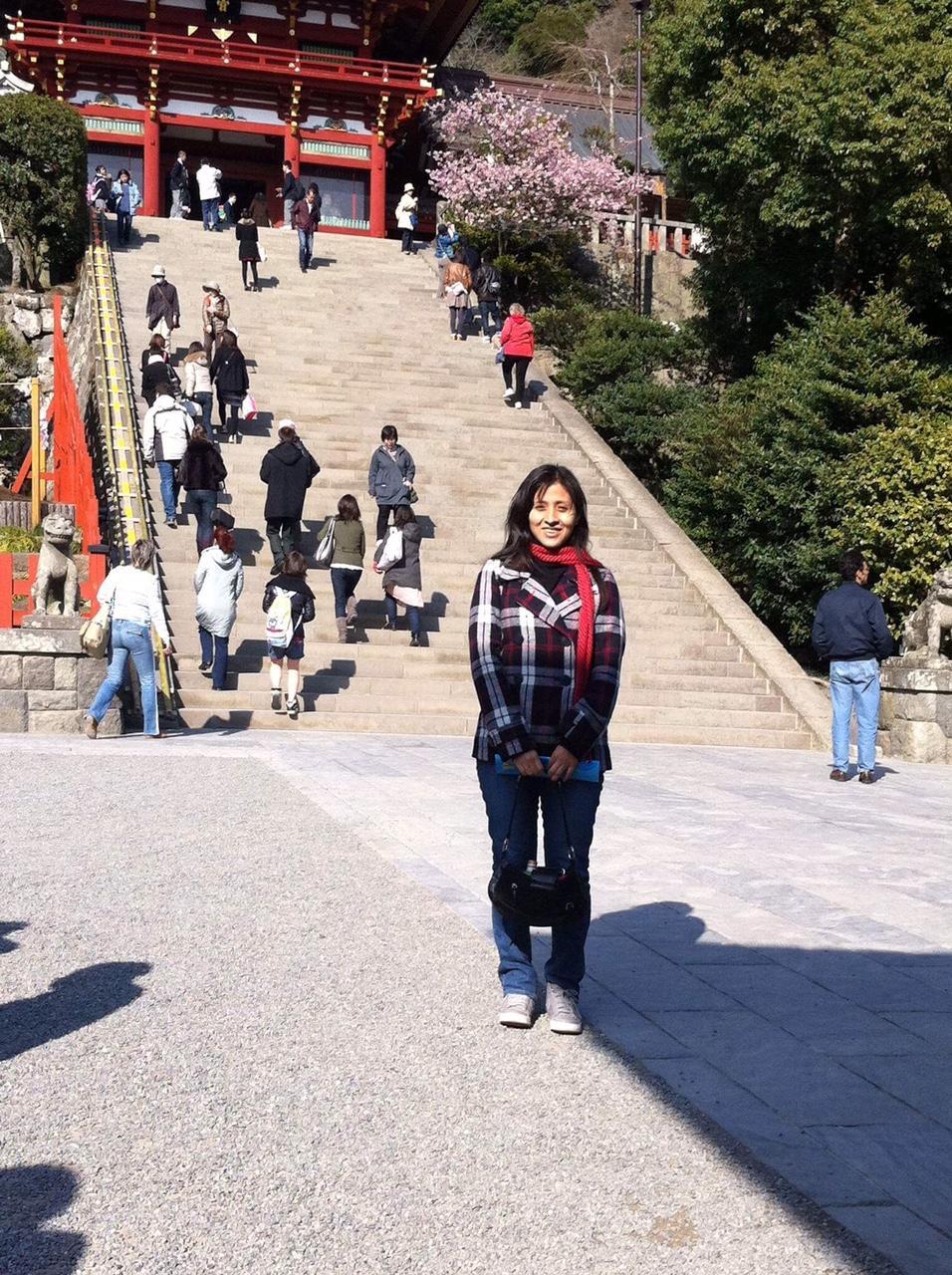 Peruvian remembering the Tohoku Earthquake 2011